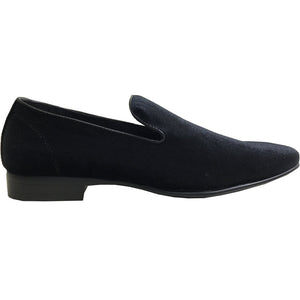 Tobias - Black Velvet Dress Loafers-The Shoe Square
