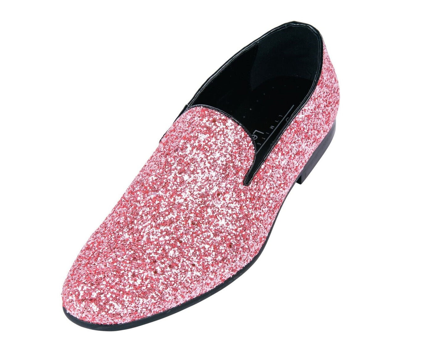 Pink Sparkle Loafer Shoes-The Shoe Square