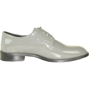 Kingston - Grey Patent Formal Dress Shoes-The Shoe Square