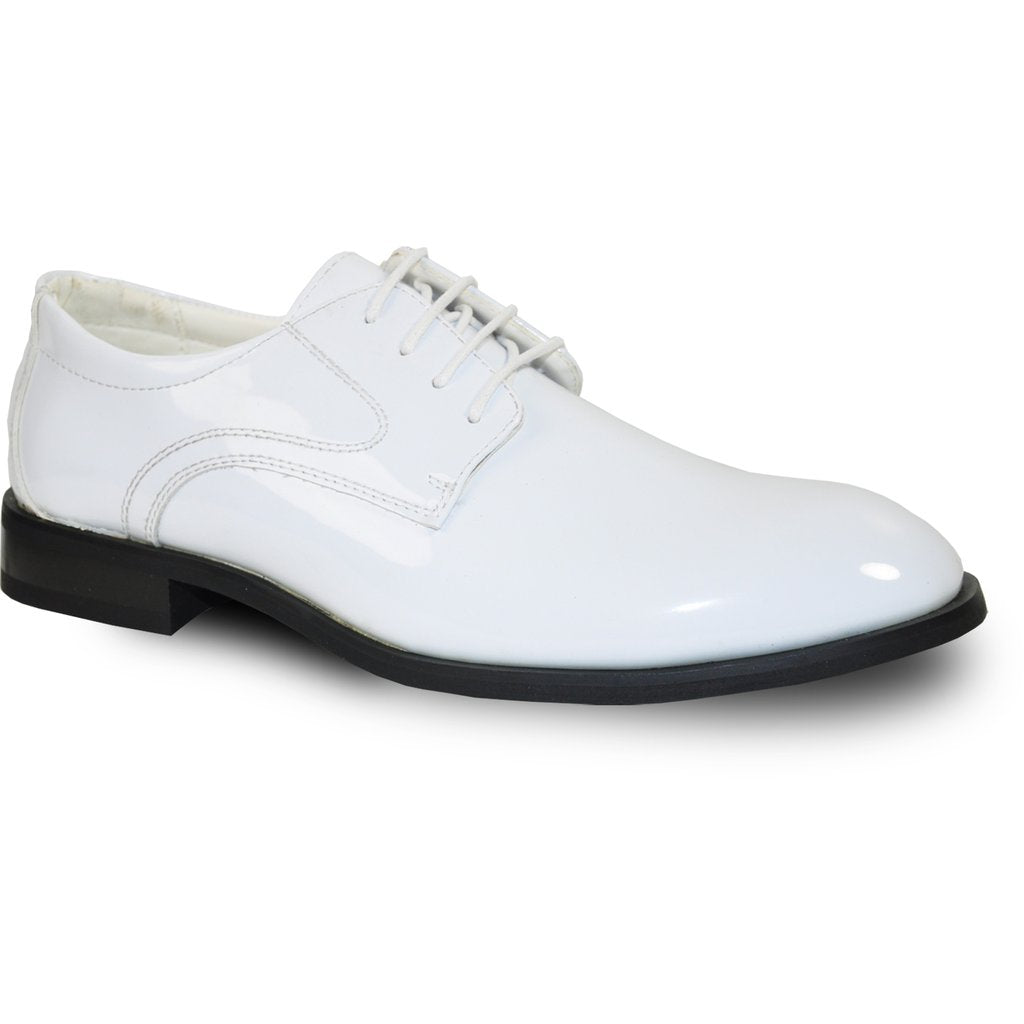Kingston - White Patent Formal Dress Shoes-The Shoe Square