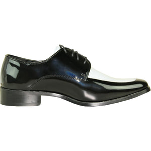 Milan - Black & White Patent Formal Dress Shoes-The Shoe Square