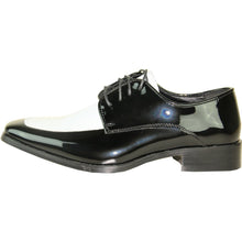 Load image into Gallery viewer, Milan - Black & White Patent Formal Dress Shoes-The Shoe Square