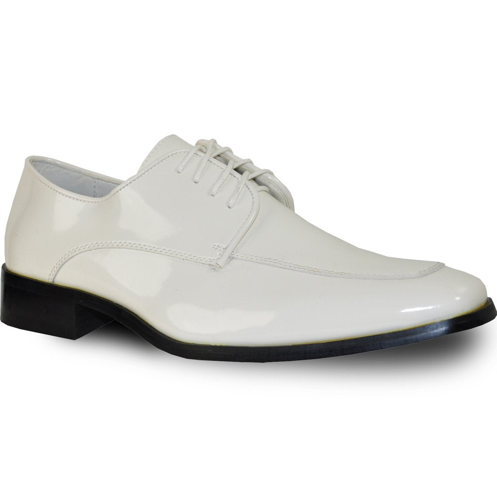 Milan - Ivory Patent Formal Dress Shoes-The Shoe Square