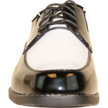 Load image into Gallery viewer, Prague - Black & White Patent Formal Dress Shoes-The Shoe Square