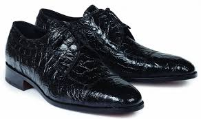 Brunelleschi Crocodile Shoe in Black  -  Style #4598
