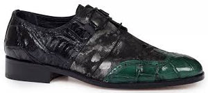 Caracalla Baby Crocodile / Alligator Shoe in Hunter Green  -  Style #53124