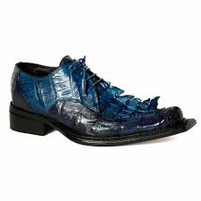 Giotto Baby Crocodile Hornback Tail in Blue Shoe -  Style #44209