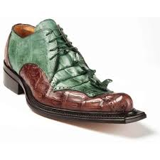 Giotto Baby Crocodile Hornback Tail in Hunter Green / Sport Rust Shoe -  Style #44209