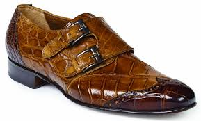 Masolino Hand Painted Alligator in Brandy/ Sport Rust Shoe -  Style #1010