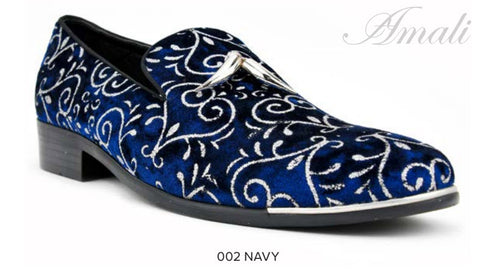 Navy Sparkle Loafer with Tassels