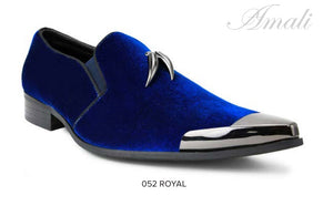 Royal Blue Pointed Slip On with Tassels