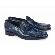 Spada Baby Alligator in Blue Shoe -  Style #4692