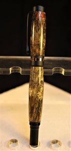 Classic 24kt Gold and Black Enamel Fountain Pen