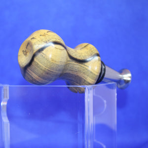 Ergonomic Spalted Wood Bottle Stopper