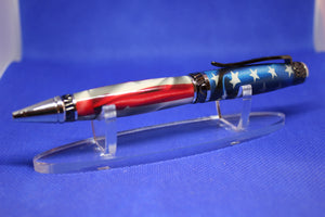 Chrome Gun Metal Cigar Pen