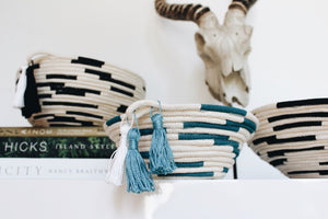 DIY: Color Blocked Baskets