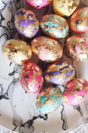 DIY Gold Chipped Easter Eggs