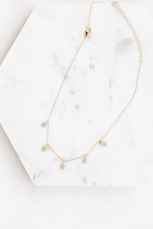 Find the perfect necklace you're looking for from Charme Silkiner! This beautiful 14K Gold Chain Necklace with CZ micro pave Oval Accents is perfection. Great for layering or wearing alone the Oriana Necklace is the perfect piece of unique jewelry that everyone should own in their collection!