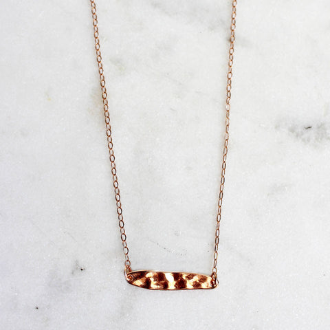 rose gold chain rose gold bar necklace