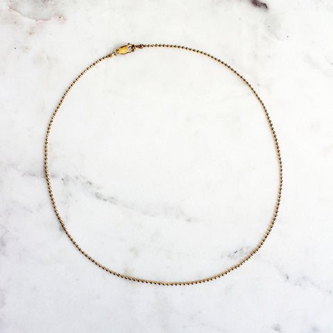 faceted gold chain necklace