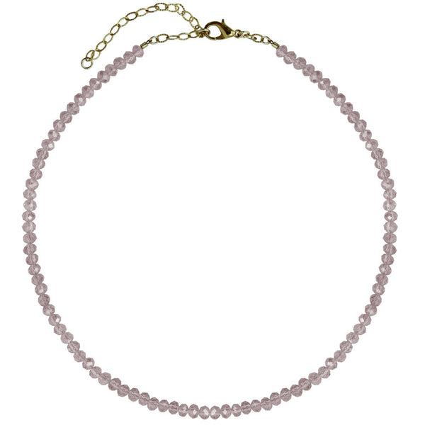 crystal choker and 14k gold filled chain, Lemon, Purple, Olive, Blush, Pink