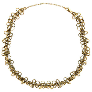 circle chain choker, 14k gold filled, fun