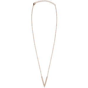 rose gold chain deep CZ pave necklace