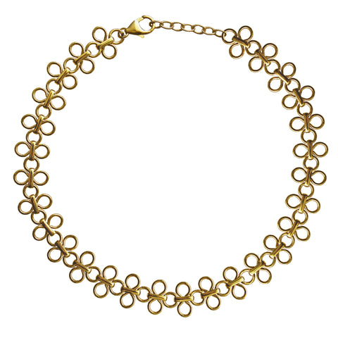 Kelsey Gold Choker Necklace