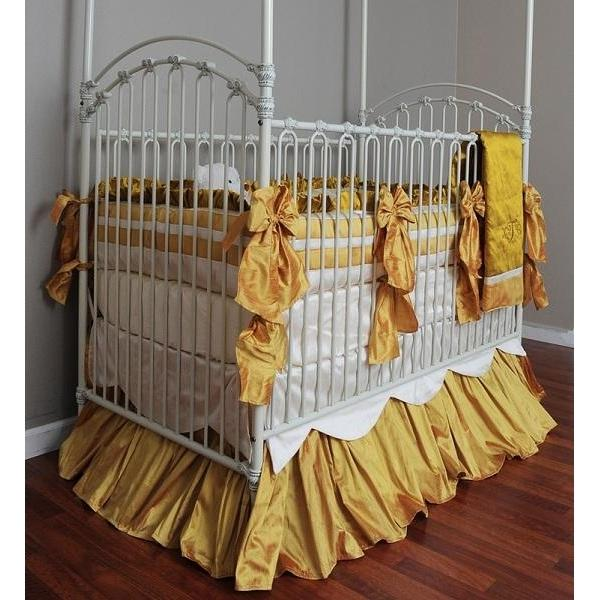 Ella Silk Crib Baby Bedding Set