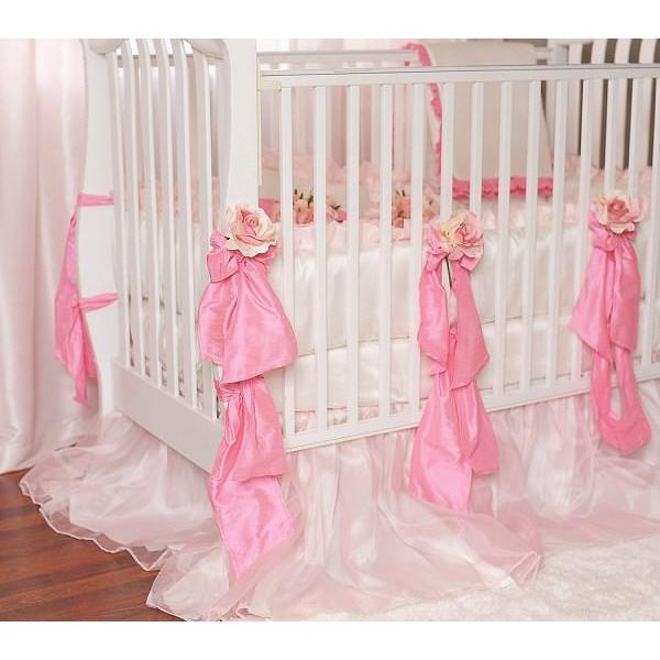 Nicolette Crib Baby Bedding Set with Organza