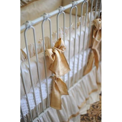 Gabrielle Silk Bedding | Luxury Baby Bedding-Crib Bedding Set-Silk Dupioni-Olena Boyko Baby Bedding