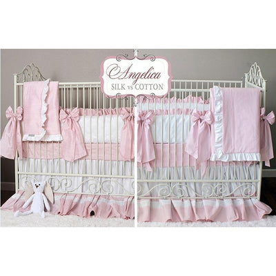Celine in Pink Baby Bedding Set-Crib Bedding Set-Cotton-Olena Boyko Baby Bedding
