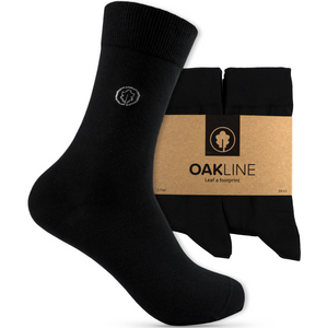 OAKLINE Rebel Baumwolle Black Original Unisex Damen- und Herrensocken - 6 Paar