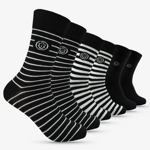 OAKLINE Rebel Stripes Original Damen- und Herrensocken - 6 Paar