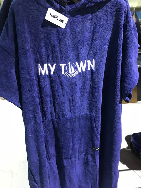 My town poncho towel