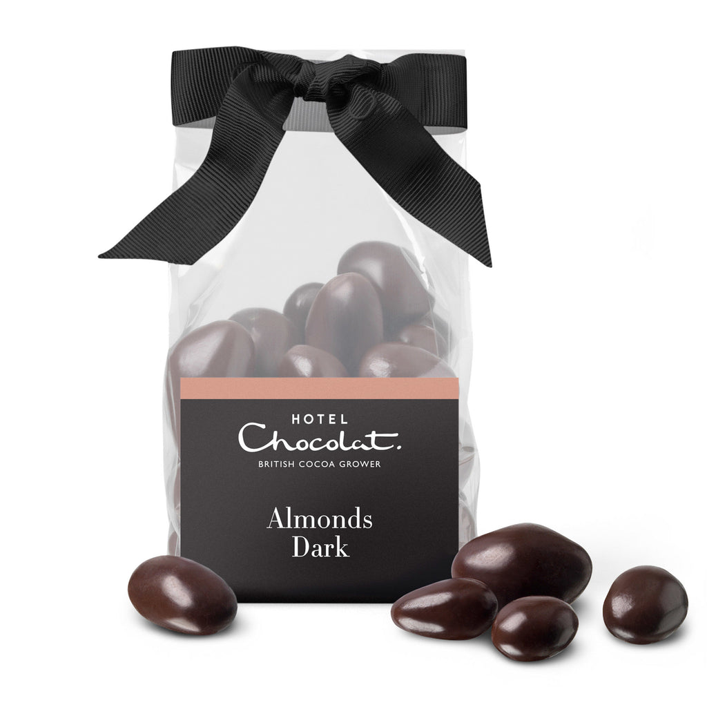 Dark Chocolate Salted Caramelised Almonds
