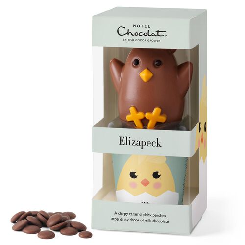 Elizapeck the Chick - Caramel-Milk Chocolate Chick
