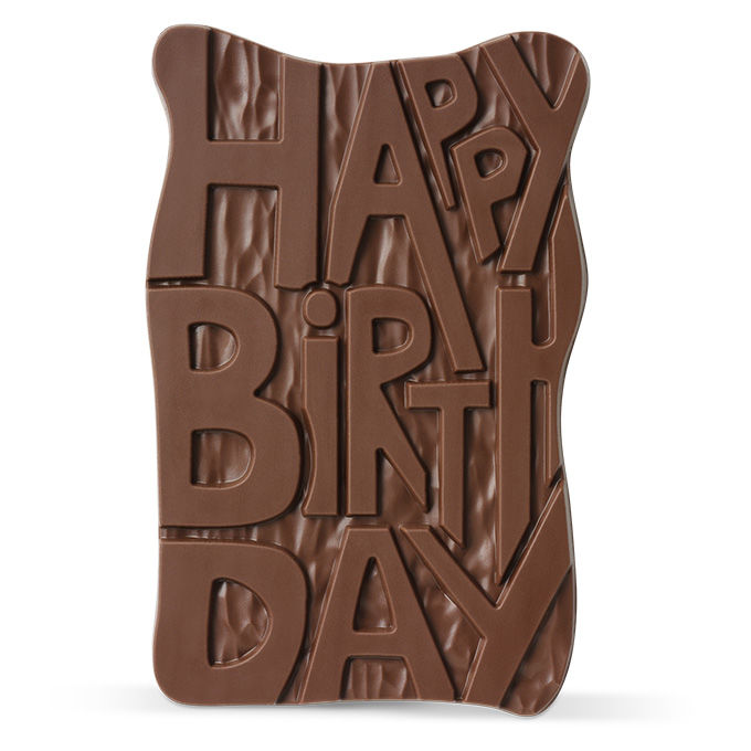 Happy Birthday Milk Chocolate Grand Slab