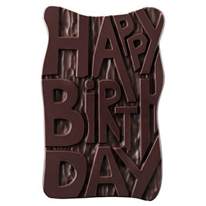 Happy Birthday Dark Chocolate Grand Slab