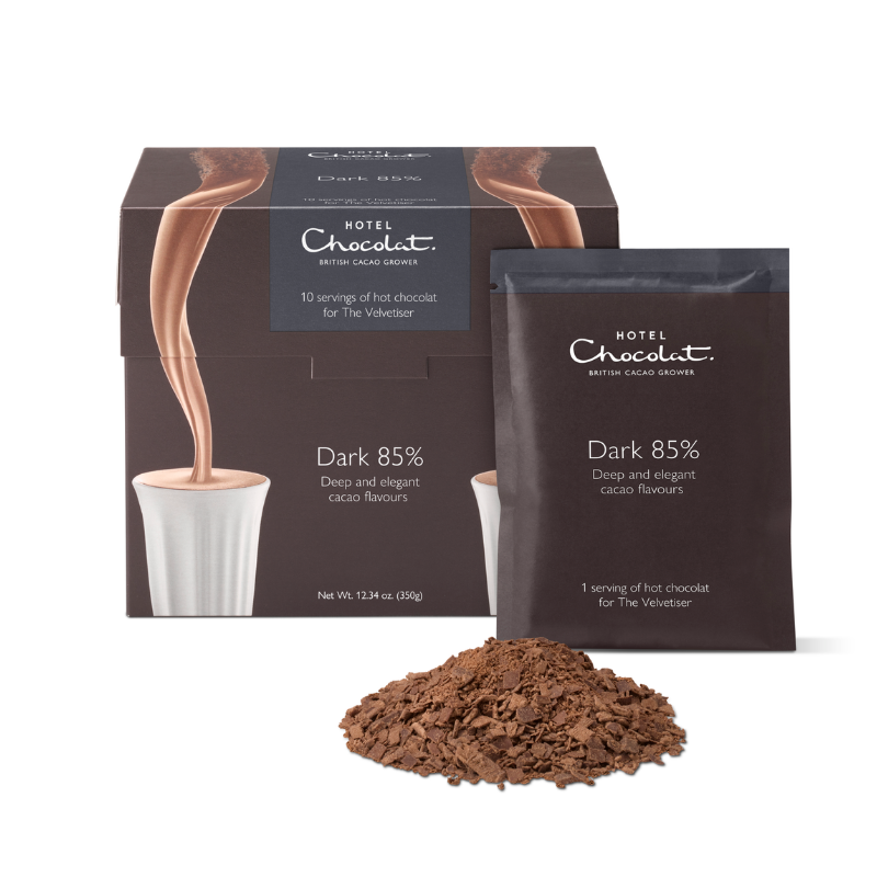 85% Dark Hot Chocolate – Single-Serves