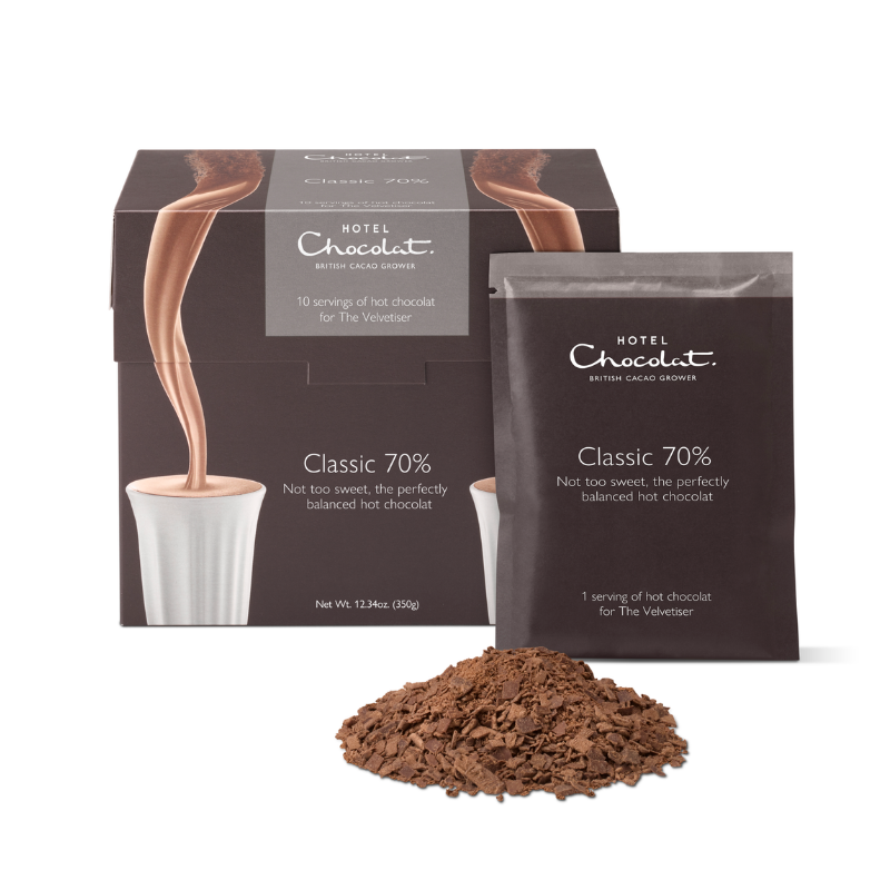 Classic 70% Dark Hot Chocolate – Single Serves