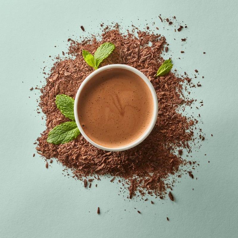 Dark with Mint Hot Chocolate - Single Serves