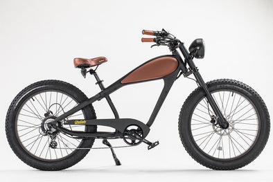 The Vintage Retro Cheetah by Civi Bikes - Classic Cruiser Electric Bike