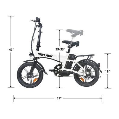 2020 Skylark by Nakto eBikes - Ultra Compact Folding e-Bike