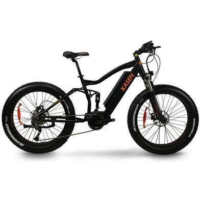 K-4.0 by Kasen Bikes - Fat Tire Full Suspension Mid Drive E-Bike