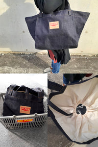 VBEC05 Denim Shopping Bag レジカゴバッグ