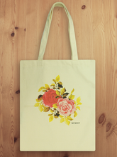 Cotton Canvas Rose Tote Bag B07039