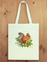 White Blending Nylon Squirrel Tote Bag B07019