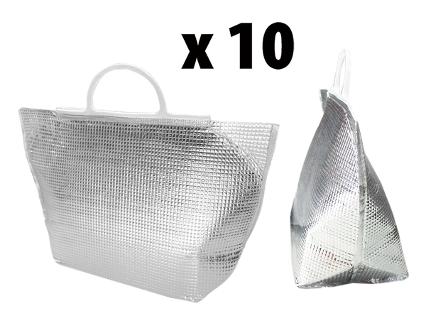 Instock Sliver Cooler Tote-Bag 1 Set for 10pcs