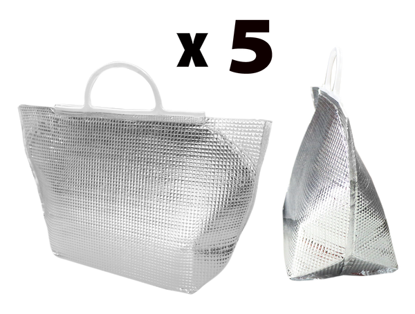 Instock Sliver Cooler Tote-Bag 1 Set for 5pcs